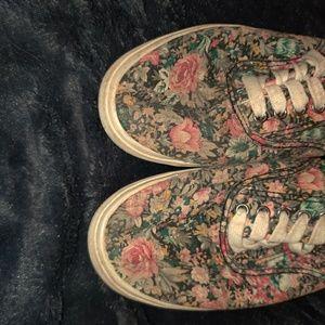 Flower sneakers.
